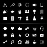 Social Media Icon Button White Monochrome; eps8