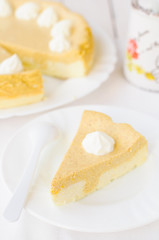 Crustless Pumpkin and Quark (Cottage Cheese) Cheesecake