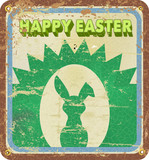 retro easter illustration, vector eps 10