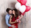 Luftballons Pärchen Liebe