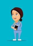 Nurse healthcare doctor illustration with stethoscope icon