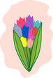 Spring fresh flower vector