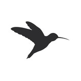 Small black hummingbird icon