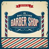Fototapety Retro Barber Shop - Vintage  style