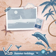 Summer scrapbooking photo album