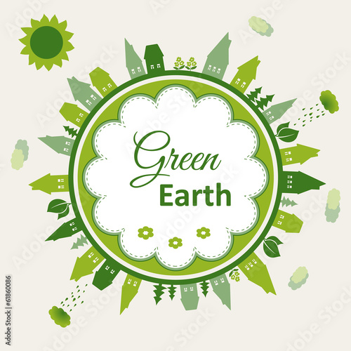 Green earth concept illustration