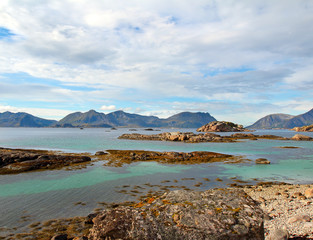 Lofoten islands in Norway, Norwegian sea