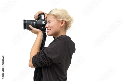 Beautiful female photographer