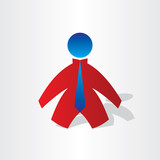 business man with tie icon poster