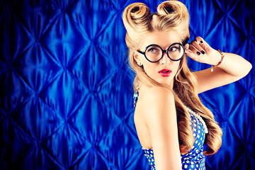 smart blonde