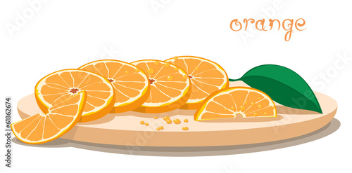 Served Oranges On Plate