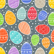 Happy Easter seamless background