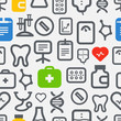 Seamless background of healthcare icons collection