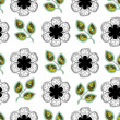 Flowers and Leaves Endless Seamless Pattern