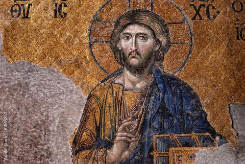Tuinposter Turkey Mosaic of Jesus Christ