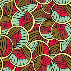 Abstract Lines Endless Seamless Pattern