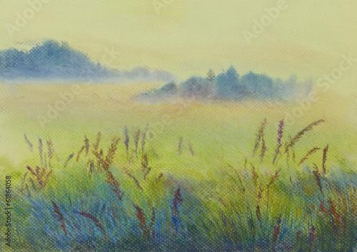 Fototapeta pastel landscape