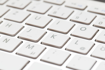 Keyboard of a modern laptop