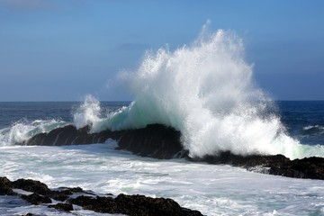 Big Wave and Rocks