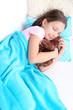 Beautiful little girl sleeping, close-up