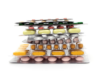Tablettenmix gestapelt vertikal