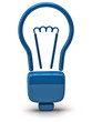 Illustration of blue light bulb