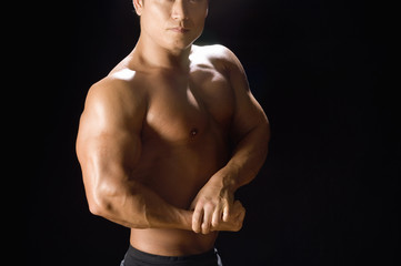 Japanese muscular man