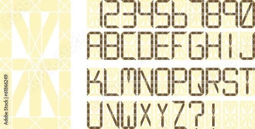Vector digital display font pack