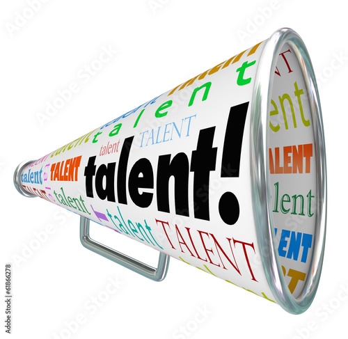 Talent Bullhorn Megaphone Calling Skilled Workers Job Prospects