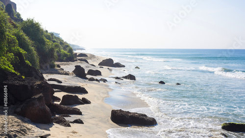 Beach with cliffs in Varkala