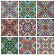 Set of South East Asian Textile Vector Pattern