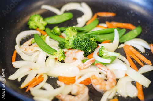 Stir-fried vegetable