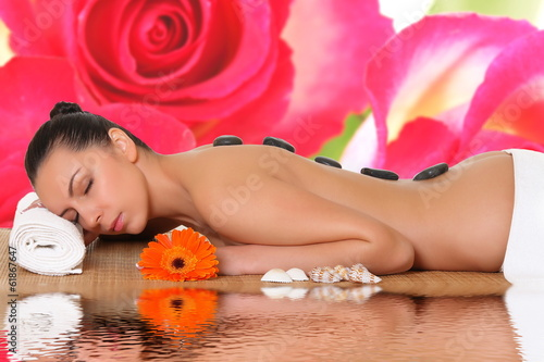 beautiful young woman in a spa