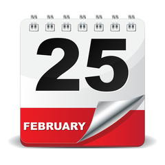 25 FEBRUARY ICON