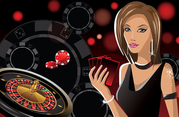 girl in casino banner