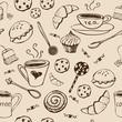 Vintage tea pattern