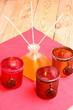 Kerzen und Duftöl