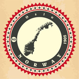 Vintage label-sticker cards of Norway.