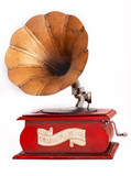 old decorative gramophone