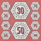 Retro Vintage style Birthday greeting card collection