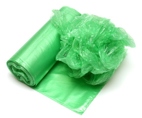 Crumpled garbage bag