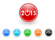 new year 2015 icon vector set