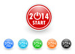 new year 2014 icon vector set