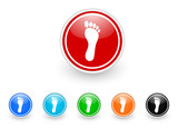 foot icon vector set