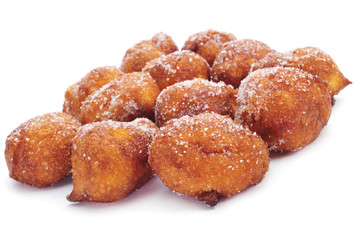 bunyols de Quaresma, typical pastries of Catalonia, Spain, eaten