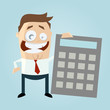 business man taschenrechner kalkulation