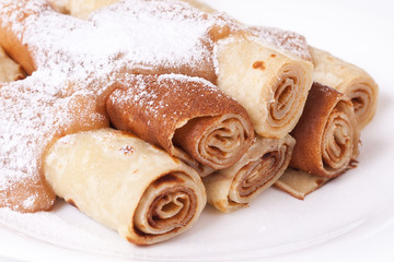 Sweet pancakes in a traditional style