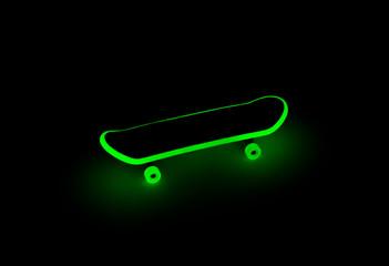Fingerboard glowing in the dark