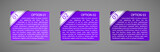 vector purple paper option labels