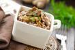 Buckwheat porridge with mushrooms.
